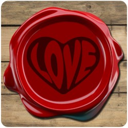 Sello de Lacre Love Corazones - Modelo 26