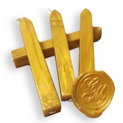 Barra de cera para lacre con mecha - Dorado Oro