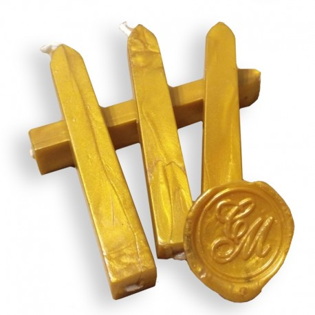 Cera para lacre con mecha  - Dorado Oro
